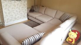 Sofology Majestic Corner Sofa with foot stool and cushions. Bought new in December. Good condition