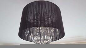 Black Lampshade chandelier
