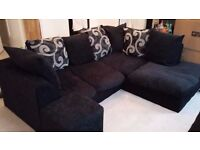 Black corner sofa. In very good condition. £200. From a non-smoking and pet free home.
