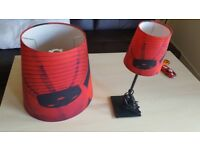 small bedside lamp and matching big/ceilling lampshade