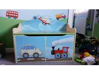 Wooden toy box and matching chair...from dobbies