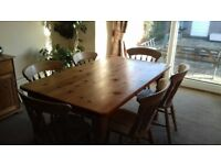 Dining table & chairs & sideboard