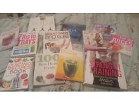 11 juicing,smoothie,health, yoga, exercise, weight loss books plus brand new pilates dvd boxset