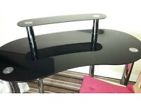 glass pc desk and chair
