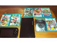 Wii u console with 7 games