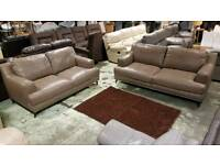 Sofology 3 and 2 seater real leather!