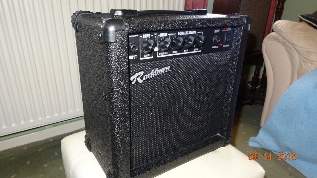 Rockburn 15 watts practise amp  Clean and gain settings  Headphone jack  |  in Benfleet, Essex | Gumtree