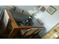 Dining table 6 chairs- walnut- Autograph by Marks & Spencer