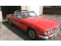 Triumph Stag 1972 Tax exempt, Manual box, Hard & Soft top, May take part exchange