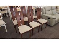 Julian Bowen 6x Cayman Dining Chairs