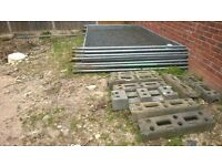 Heras fencing anti climb used with feet and fittings DIY