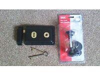 Rim lock and handle