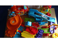 Large Joblot Of Toot Toot Tracks And Buildings Plus Transport Truck