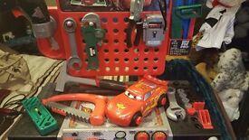 Lighting mcqueen work bench