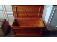 Blanket Box/Chest, Good Condition, Pine - Collection Only