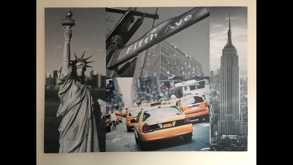 USA scenes large canvases
