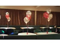 Hire of Wedding Chair Cover & Sashes, Candy Cart, Centrepieces & Balloon Designs, etc