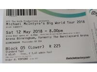 Michael McIntyre tickets x 2, Birmingham, 12 May 2018