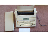Vintage, Brother AX-25 Electric Typewriter, Tested with Ribbon and Instructions