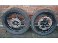 Motorbike Rims and tyres 110-80-17 90-80-17