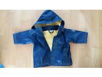 JoJo Maman Bébé waterproof jacket size 6-12months