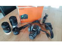 Sony Alpha A100 Package Inc 3 lens