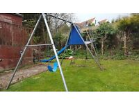 TP play frame with swings and slide