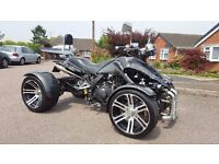 Spy 350F1 Road legal Quad bike with Mot, Only 440 miles, 2 Keys with remote start and alarm.