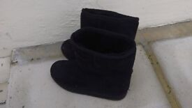 3 pairs of girls boots. Size 13, 1 & 2. Perfect for this snowy rainy weather! From Clarks shoe shop