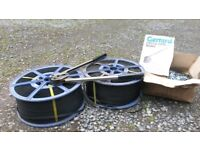 2 Complete Rolls of Gerrard Plastic Strapping including crimpping tool and box of clips