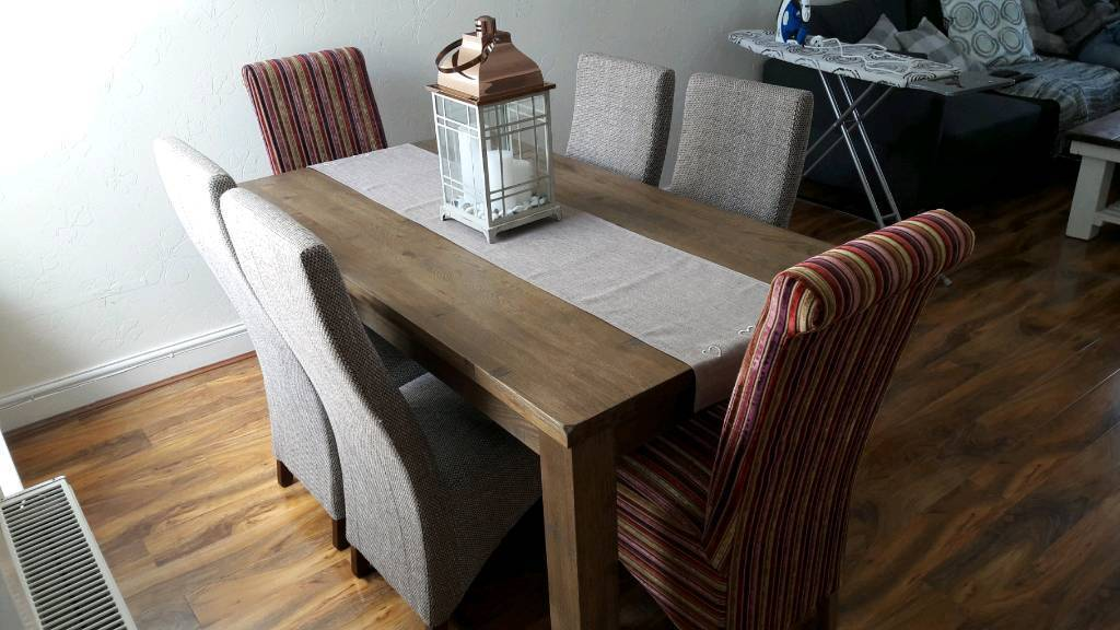 Groovy Contemporary Oak Dining Table With Chairs In Pontypridd Rhondda Cynon Taf Gumtree Home Interior And Landscaping Oversignezvosmurscom