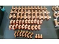 Large job lot of 127 new copper fittings solder, crimp & push fit 15mm 22mm 28mm 54mm