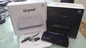WePresent 1500 wireless media streamer and AP, boxed with AirPad, better than a projector!!