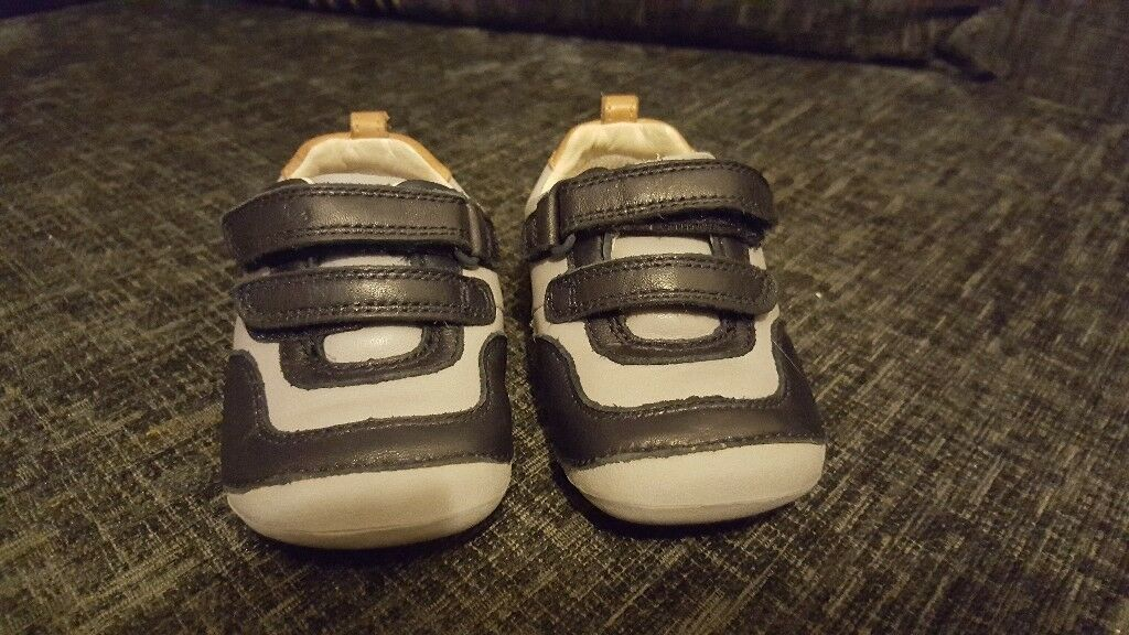 Clarks baby boys first shoes size 4 and a half F