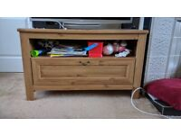 Wooden solid TV stand