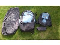 2006 Macpac Orient Express 65L with detachable day sack, bum bag and waterproof bag