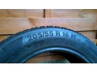 Four winter tyres - Continental WinterContact TS 850 (205/55 R16)