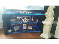 Black glass led stand