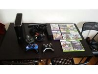 Xbox 360 S with Kinect 250 GB Console + 8 Top Games plus 2 controllers