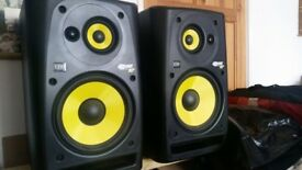 Pair of KRK ROKIT 10-3 (2x active powered stuido monitors / speakers)