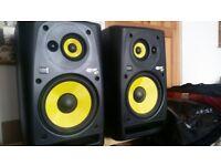 Pair of KRK ROKIT 10-3 (2x active powered stuido monitors / speakers)