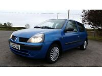 *!*FULL SERVICE HISTORY*!* 2003 Renault Clio 1.2 8v Authentique **FULL YEARS MOT** **NO SUNROOF**