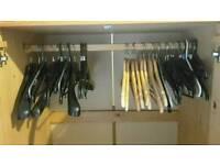 43 clothes hangers