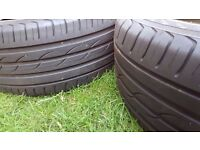 2 x part used good condition tyres forVolvo S80 or similar cars
