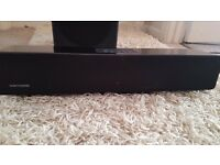 Orbit sound bar with wired sub and Bluetooth