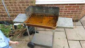Scrap metal barbecue