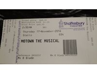 Motown the Musical tickets (2) 17.11.16 2.30pm matinee Shaftesbury Theatre London