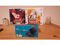 (NEW STYLE) NINTENDO 2DS XL WITH 2 GAMES