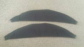 charcoal curtain ties