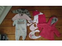 Baby girl clothing bundle 0-3 months